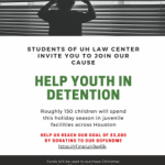 Help Houston Area Youth In Detention & Probation Facilities This Holiday Season